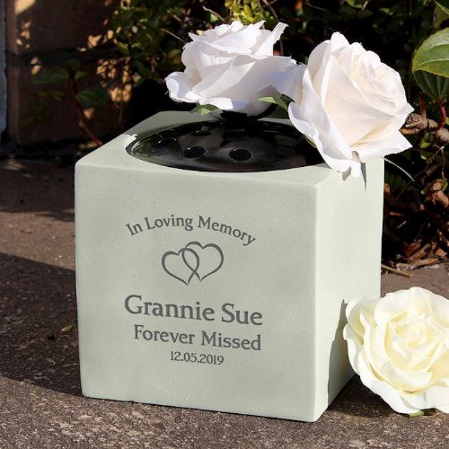Floating Hearts Memorial Vase